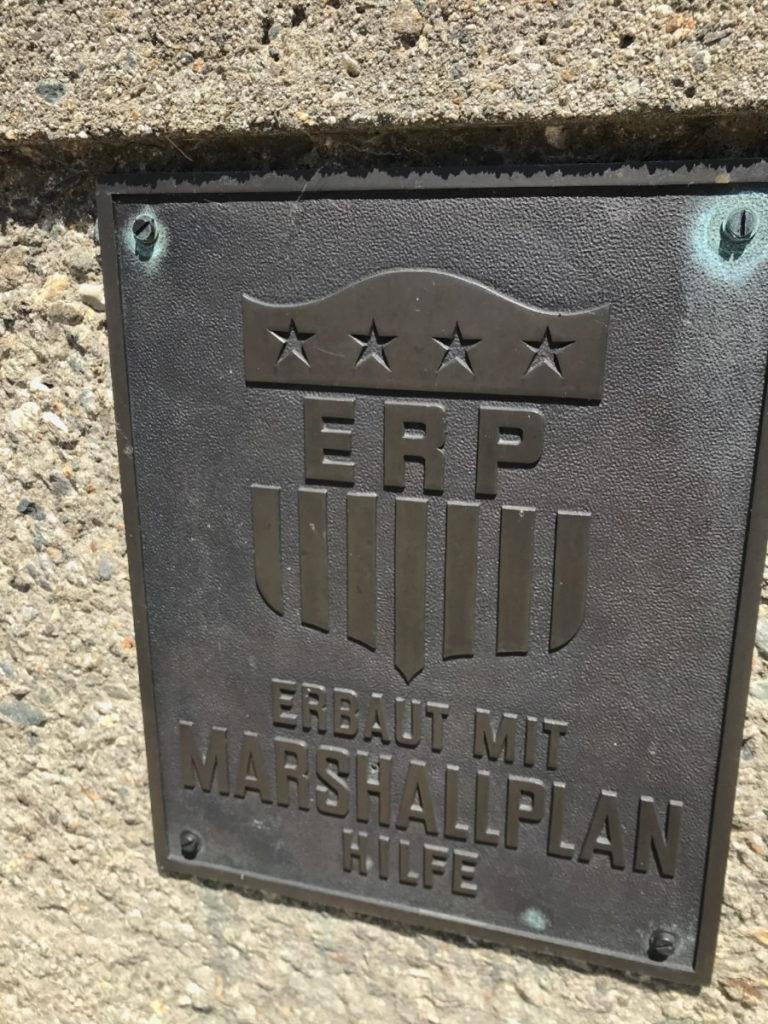 Das Kraftwerk und die Kaprun Stauseen waren nach dem 2. Weltkrieg Teil des Marschallplan